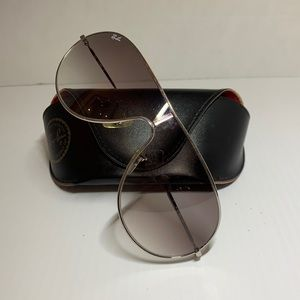 Ray Ban Vintage Silver Aviator Sunglasses